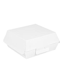 conchas hamburguesa 'thepack' 230 g/m2 15x14x6 cm blanco cartÓn ondulado nano-micro (500 unid.)
