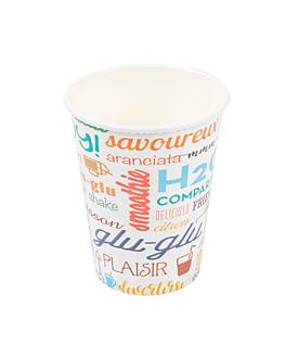 bicchiere 'parole' 9 oz - 270 ml 265 + 18 pe g/m2 Ø7,8x9,5 cm bianco cartone (2500 unitÀ)