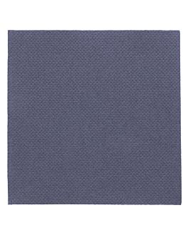 serviettes ecolabel 'double point' 18 g/m2 20x20 cm bleu marine ouate (2400 unitÉ)