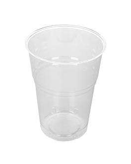 gobelets compostables 575 ml Ø 9,5x13 cm transparent pla (800 unitÉ)