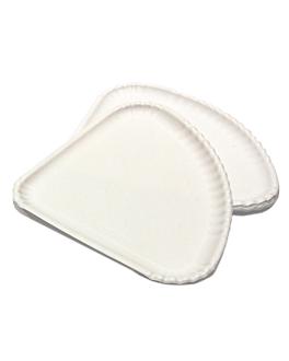 assiettes triangulaires À pizza 1/4 30x21 cm blanc carton (500 unitÉ)