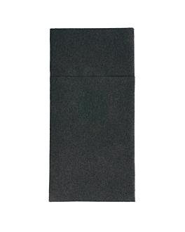 serviettes kangourou 55 g/m2 40x40 cm noir airlaid (700 unitÉ)