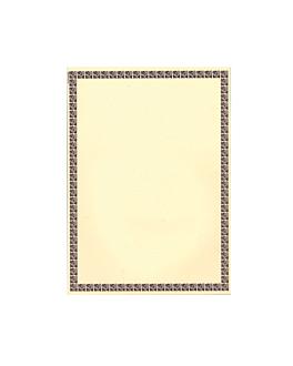 hojas din a-4 orla marrÓn 21x29,7 cm blanco papel (250 unid.)