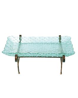 stand acciaio/vetro verde rett. 65x50x26 cm (1 unitÀ)