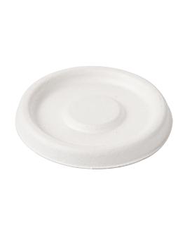 coperchio per terrine 150.58 'bionic' Ø 6,2 cm bianco bagassa (1000 unitÀ)