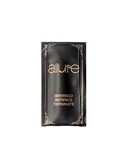 kleiner beutel zahnpasta 'allure' 3 ml 8x4,5 cm schwarz pet (500 einheit)