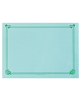 table mats 48 gsm 31x43 cm sea green cellulose (2000 unit)