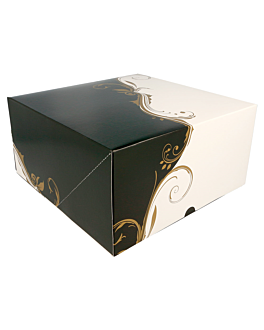 boÎtes patisseries sans fenÊtre 300 g/m2 24x24x12 cm blanc carton (50 unitÉ)