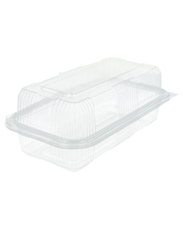confectionery containers + lid 750 ml 10,8x20,5x7,5 cm clear pet (600 unit)