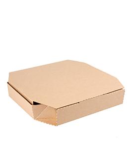 cajas octogonales 'thepack' 330 g/m2 29x29x3,8 cm natural cartÓn ondulado microcanal (100 unid.)