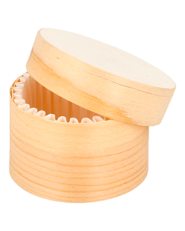 mini cylindrical boxes + lid & capsule Ø 5x3,5 cm natural wood (360 unit)