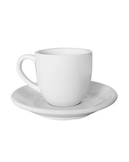 """tea cups """"atlantic"""" 110 ml Ø 6,5x6 cm white porcelain (6 unit)"""
