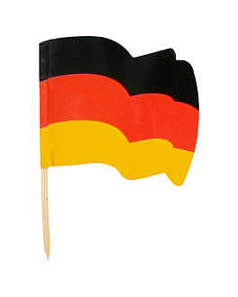 "flag picks ""germany"" 4x3/6,5 cm assorted wood (144 unit)"