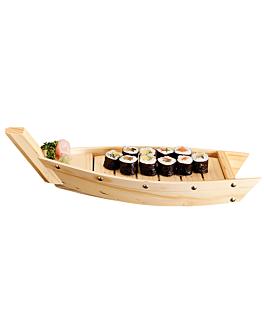 barca mariscos 44x13x11 cm natural madera (1 unid.)
