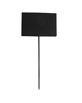 5 u. rectangular blackboards picks 8x5,4x18 cm black bamboo (1 unit)