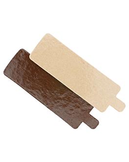 cartone pasticceria doppia faccia 1100 g/m2 5,5x9,5 cm cioccolato/pralina cartone (200 unitÀ)