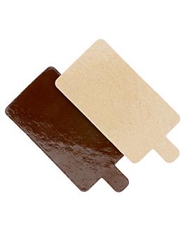 cartons pÂtisserie deux faces 1100 g/m2 5,5x9,5 cm chocolat/pralinÉ carton (200 unitÉ)