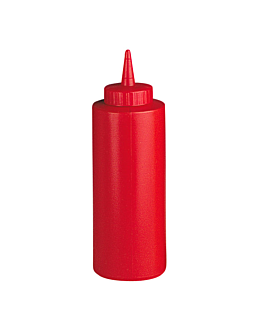 squeeze dispensers 360 ml Ø 6x18,2 cm red pehd (6 unit)