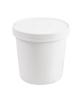 containers + lids 780 ml 18pe + 340 + 18 pe gsm Ø11,7/9,2x11 cm white cardboard (250 unit)