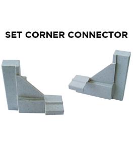 set 2 connecteurs d'angle (1 unitÉ)