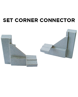 set 2 corner connectors (1 unit)
