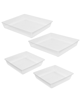 4 microwaveable plates for item 209.49  clear pp (100 unit)
