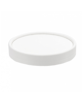 couvercles pots À glaces 150 ml 280 + 18 pe g/m2 Ø8,5 cm blanc carton (1000 unitÉ)