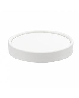 lids for ice-cream tubs 150 ml 280 + 18 pe gsm Ø8,5 cm white cardboard (1000 unit)