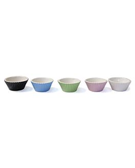 10 cupcakes molds Ø 7x3 cm assorted ceramic (5 unit)