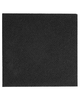 serviettes 55 g/m2 20x20 cm noir dry tissue (3600 unitÉ)