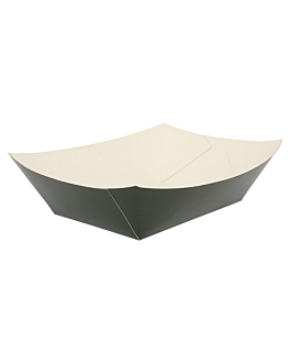 schiffchen 1200 g 275 g/m2 12x8,1x5,5 cm schwarz feinkarton (100 einheit)