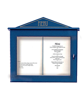 porta menÚs luminoso 60x65x8 cm azul madera (1 unid.)