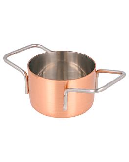 mini pot Ø 7x4,5 cm copper stainless steel (6 unit)