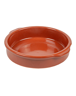 rÉcipients avec anses 550 ml Ø17x4,5 cm marron ceramique (12 unitÉ)