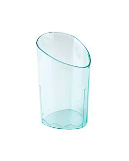 recipiente para aperitivos cilindro 4,7x4,7x8,1 cm verde Água ps (600 unidade)