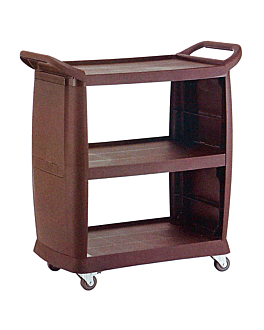 open 2 sided trolley 98x46x105 cm brown abs (1 unit)