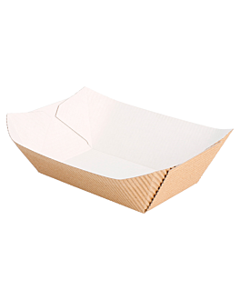 containers-corrugated 240 g 8,5x5x4 cm natural kraft (800 unit)