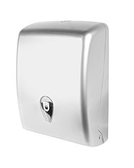 hand towel dispenser 27,7x13x37 cm silver abs (1 unit)