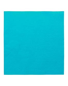 serviettes ecolabel 2 plis 18 g/m2 39x39 cm bleu turquoise ouate (1600 unitÉ)