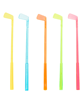 """golf club"" drink stirrers 15 cm assorted ps (100 unit)"