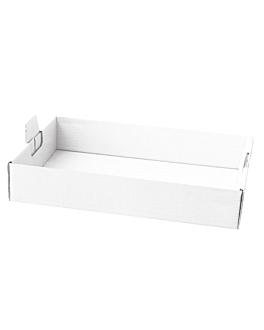 plateaux regrouper 62x43,5x9,5 cm blanc carton (50 unitÉ)