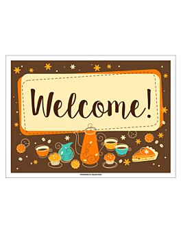 table mats offset 'welcome' 70 gsm 31x43 cm four coloured paper (2000 unit)