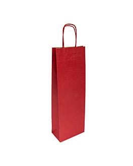 sacos sos com asas 1 garrafa 100 g/m2 14+8x40 cm bordeaux kraft (250 unidade)