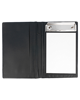 order pad cover 12x18 cm black pvc (1 unit)