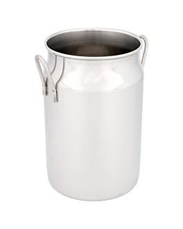 mini lecheritas 620 ml Ø 7,5x12 cm plateado inox (12 unid.)