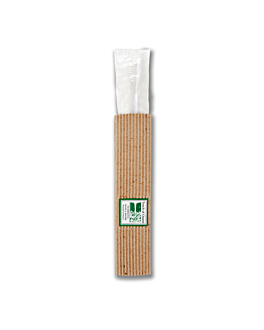 toothbrushes, recycled wrapping 15,5x1x1,5 cm white ps (100 unit)