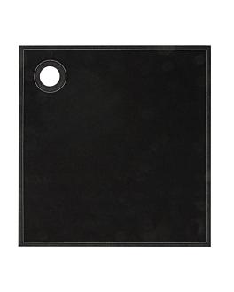 12 u. torchons en rouleau 'cubi-drap' 40x40 cm noir coton (1 unitÉ)