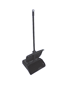dustpan with lid and handle 87x34x27,5 cm black pp (1 unit)