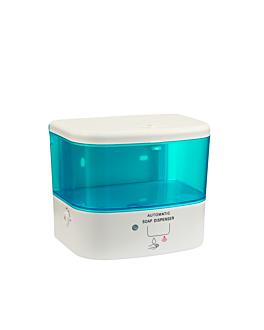 distributeur savon automatique 0,5 l 15x12x13 cm blanc abs (1 unitÉ)