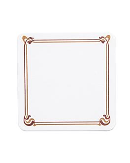 posavasos marrÓn/ocre 'maxim' 210 g/m2 8,5x8,5 cm blanco cartoncillo (6000 unid.)